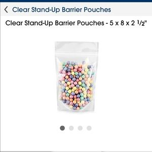 Uline Clear Stand-Up Pouches - 5 x 8 x 2 1⁄2""
